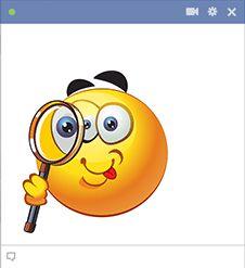Cette émoticône spyglass est parfait pour vous limiers Facebook qui aiment aller au fond de la vérité après vérité.