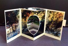 Kyoto Garden. 3-D pop-up collage from magazine scrap. From Salon de Refuse studio. Artist Rita McNamara.
