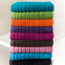 - gorgeous towels, bathsheets, face cloths, hand towels and bath mats are all rich and luxurious. They are just FABULOUS - I use them every day.