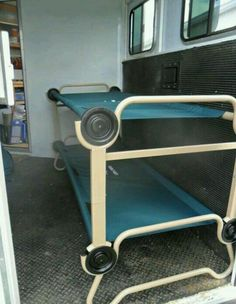 Bunk bed cots for tack room or horse area. I'm sorry Olyvia we r gonna have to try this! lol