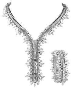 Van Cleef & Arpels Zip Necklace/Bracelet - the functionality of both a necklace unzipped and a bracelet zipped.