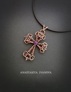 Cross with amethyst by nastya-iv83 on DeviantArt