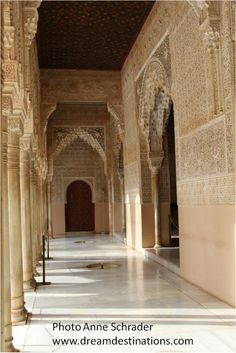 Covered walkway, Nazaries Palace Alhambra Grenada Spain