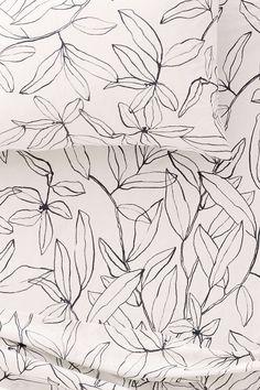 Wallpaper or poster design with gorgeous floral line art surface pattern. Motif Floral, Floral Prints, Lino Prints, Block Prints, Textile Patterns, Print Patterns, Floral Patterns, Pattern Illustration, Floral Illustrations