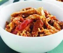 Chorizo chicken risotto with thermomix. Here is a delicious chicken and chorizo risotto recipe, simple and easy to make with thermomix. Chorizo Recipes, Risotto Recipes, Rice Recipes, Chicken Recipes, Cooking Recipes, Recipe Chicken, Savoury Recipes, Chicken Rice, Rice