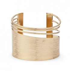 Sole Society Womens Textured Metal Cuff Bracelet Gold One Size From Sole Society eB6hjD