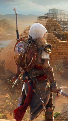 Assassin& Creed: Origins, the hidden ones, video game, wallpaper Arte Assassins Creed, Assassins Creed Origins, Assassins Creed Odyssey, Fantasy Warrior, Fantasy Art, Assassin's Creed Black, Assassin's Creed Wallpaper, Hd Wallpaper, All Assassin's Creed