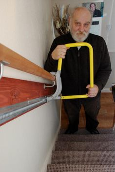 Stair Aids for Disabled #HomeDisabilityAids >> Learn more at http://www.disabledbathrooms.org/home-mobility-aids.html