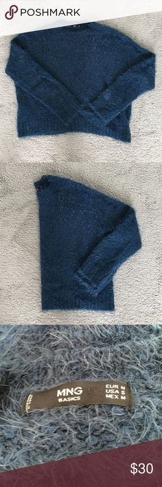 Mango Fuzzy Sweater Super warm and chic sweater from Mango. Never worn, new without tag, bought October 2016. Mango Sweaters