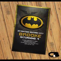 Batman Invitation - Batman Invite - Batman Birthday Invitation - Batman Birthday Party - Batman Digital File Download by CartaBlancaGraphics on Etsy https://www.etsy.com/listing/482354086/batman-invitation-batman-invite-batman