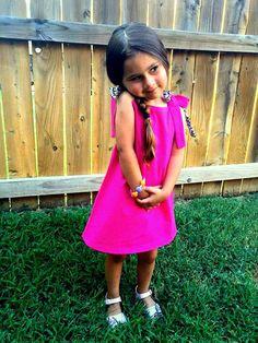 Pink girl dress sleeveless dress kids clothing by KarlaMenendez