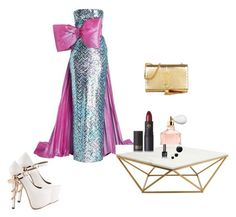 """""""Untitled #506"""" by louloutralala on Polyvore featuring Pierre Cardin, Yves Saint Laurent, ZiGiny, Guerlain, Nuevo and Lipstick Queen"""