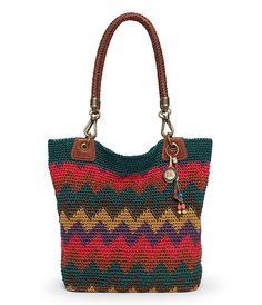 The Sak Bennett Crochet Tote, Cabin Zig Zag Stripe