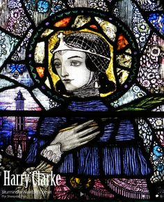 By Harry Clarke (stained glass)
