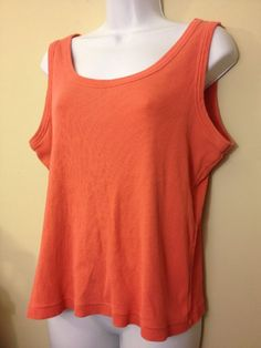 Chico's CHICO PEACH PINK TANK SHELL 3  Bust 44 size 2 #Chicos #Blouse