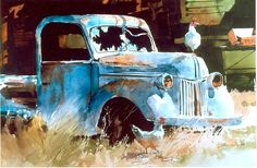 Carl Purcell - Hood Ornament- Watercolor - Painting entry - May 2010 | BoldBrush Painting Competition