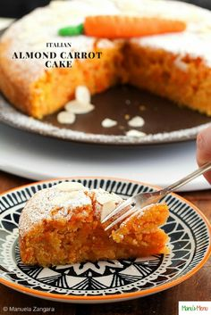Italian Almond Carrot Cake – very moist and packed with delicious carrots. Almonds give it that extra kick!