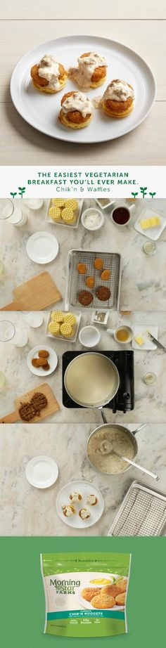 A vegetarian version of the classic, savory chicken-and-waffles recipe.
