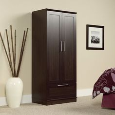 Kitchen Pantry Cabinet Storage Wooden Organize Wardrobe Drawer Adjustable Levels #Unbranded