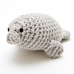 manatee amigurumi..I'll probably make a few of these for stocking stuffers. (the pattern is by needlenoodles on etsy)