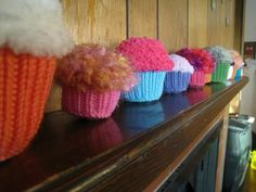 Knit a cupcake for your pet's birthday.