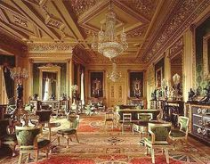 The Green Drawing Room in Windsor Castle