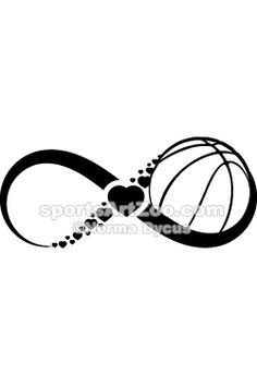 Basketball Love Infinity by SportsArtZoo  If you want to use this design please…