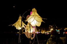 Lanterns are made from tissue paper and willow cane. (Source: Ray Wilson)