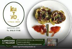 """Y para terminar bien la semana, desde el Restaurante Kutxo by Miguel García en Majadahonda, Madrid, nos comparten este plato que se llama """"Flor de Alcachofa confitada a baja temperatura con crujiente de jamon ibérico"""" ¿ tiene buena pinta , eh? Pues si estas por Madrid , Majadahonda,  puedes reservar para degustarlo en el 916 21 77 06 ¡ BUEN FIN DE SEMANA !"""