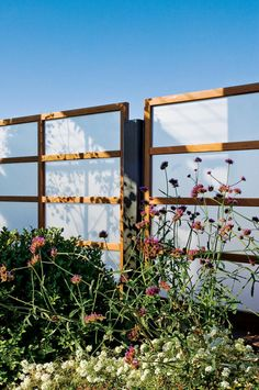 Privacy Screen Made By Hanging Pre Cut Plexiglass And