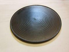 large black decorative plate contemporary ceramic art