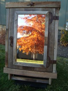 Reclaimed Rustic Medicine Cabinet With Mirror