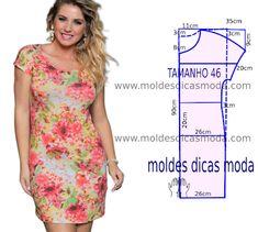Resultado de imagem para molderia en tela de punto vestidos