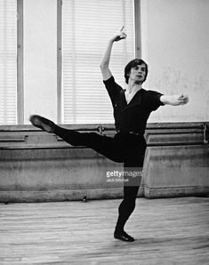 Russian-French dancer and actor Rudolf Nureyev (1938 - 1993) rehearses, 1962.