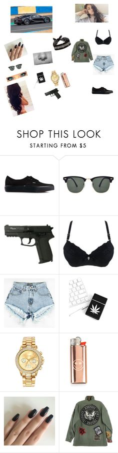 """""""Lah"""" by laurafeldetonello on Polyvore featuring Vans, Ray-Ban, Mestige, R13 and Fallon"""