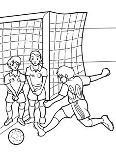 Boy Soccer Player 3 Craft - argentina soccer team coloring pages