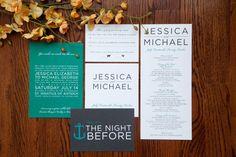 modern type wedding invitation suite by tingcreates