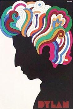 Milt Glaser's famous Dylan poster