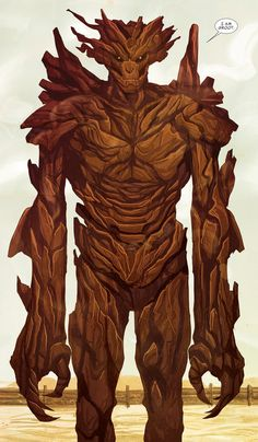 Groot, Guardians of the Galaxy, by Michael Del Mundo.