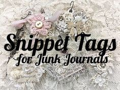 OohLaLa Vintage Treasures Design Team Project. Hi lovelies I created some snippet clip junk journal embellishments, inspired by Doreen Rook.Thank you for ins...