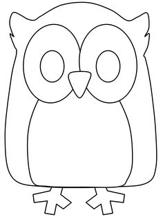 Simple Animal Coloring Pages | Birds Owl2 Animals Coloring Pages & Coloring Book