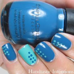 HandtasticIntentions: Nail Art Sinful Colors Ocean Side and Orly Crazy Old Maurice