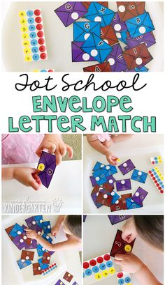 This letter matching activity is a great way to practice letter identification and fine motor skills at the same time. Perfect for a community theme in tot school, preschool, or the kindergarten classroom. Social Studies Activities, Alphabet Activities, Preschool Activities, Space Activities, Motor Activities, Infant Activities, Preschool Lesson Plans, Preschool Classroom, Classroom Ideas