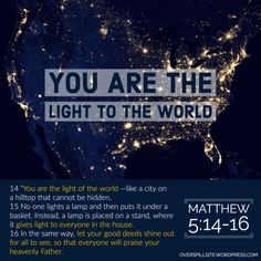 When people look at you or talk to you - do they experience the Christ in you? Is Jesus Christ evident in your relationships at work, home and others? Light Of The World, One Light, Look At You, Jesus Christ, Relationships, Lights, God, Thoughts, City
