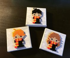 Harry Potter characters mini perler beads by perlermom