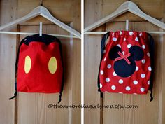 1-Mickey or Minnie Mouse Back Pack. $17.00, via Etsy.