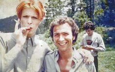 Behind the scenes photograph from The Man Who Fell To Earth