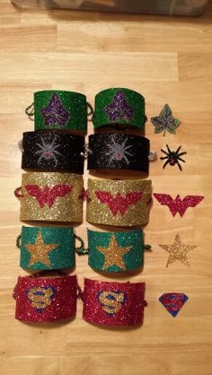 DIY Wonder Woman tiara and bracelets. Tiarafound a template on