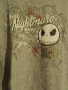 Disney Nightmare before Christmas Mens Thermal Shirt sz XL New Free Shipping