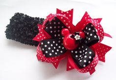 Minnie Inspired Hair Bow And Headband